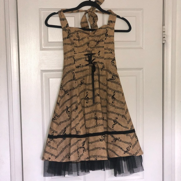 Hot Topic Dresses & Skirts - Hot Topic Musical Notes Dress Size XS